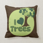 I Love Trees Throw Pillow