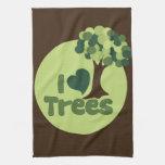 I Love Trees Towel