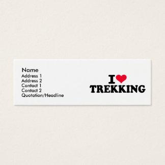 I love Trekking Mini Business Card