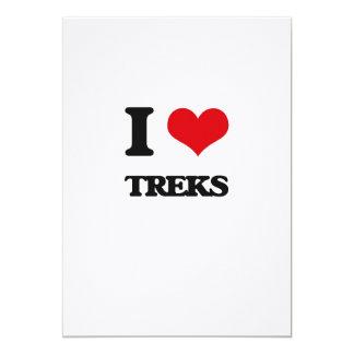 "I love Treks 5"" X 7"" Invitation Card"