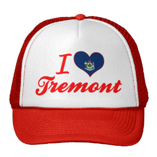 I Love Tremont, Maine Mesh Hats