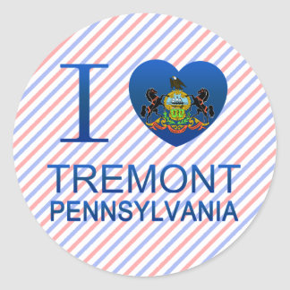 I Love Tremont, PA Classic Round Sticker