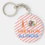 I Love Trenton, IL Keychains