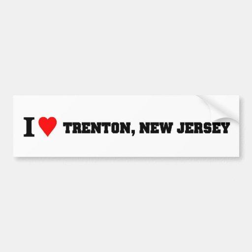 I love Trenton, New Jersey Bumper Stickers