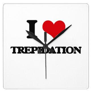 I love Trepidation Square Wall Clocks