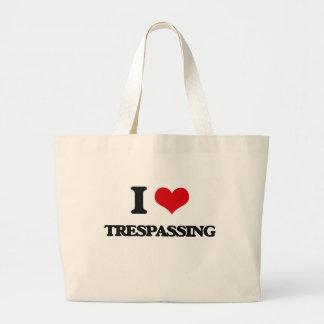 I love Trespassing Jumbo Tote Bag