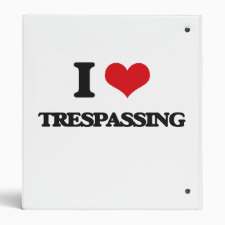 I love Trespassing Vinyl Binders