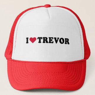 I LOVE TREVOR TRUCKER HAT