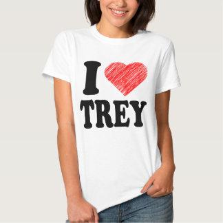 I Love Trey Heart Art tee tshirt