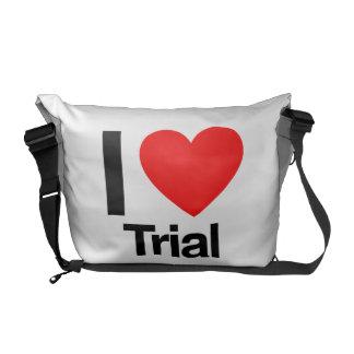 i love trial messenger bag