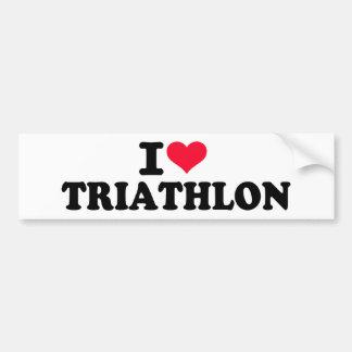 I love Triathlon Bumper Sticker