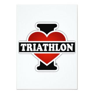 I Love Triathlon Card