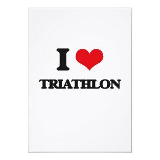 I Love Triathlon Personalized Announcement