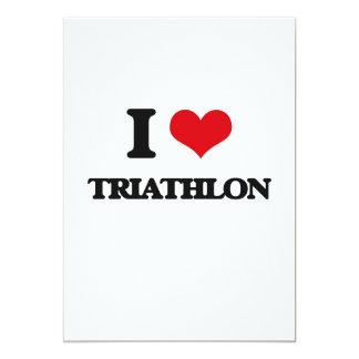 I Love Triathlon Custom Invitations