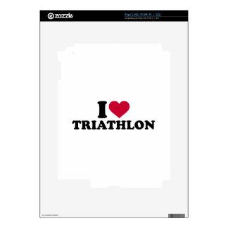 I love triathlon iPad 2 decal