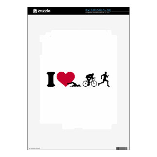 I love triathlon iPad 2 skins