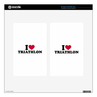 I love triathlon kindle fire decals