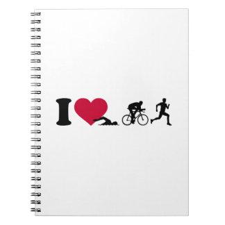 I love triathlon note book