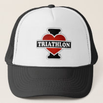 I Love Triathlon Trucker Hat