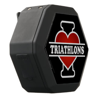 I Love Triathlons Black Bluetooth Speaker