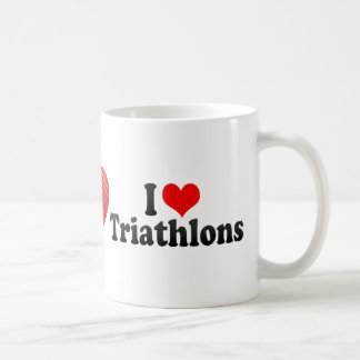 I Love Triathlons Coffee Mug