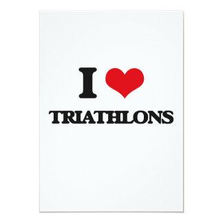 I Love Triathlons Custom Invites