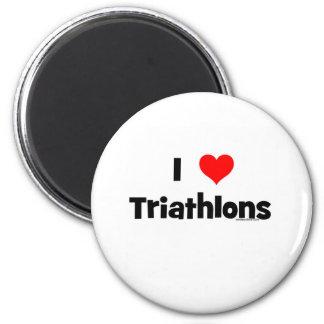 I Love Triathlons Magnet