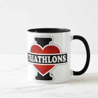I Love Triathlons Mug