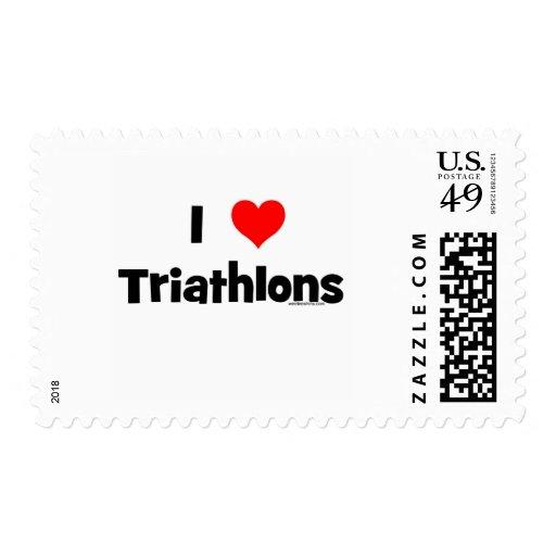 I Love Triathlons Postage