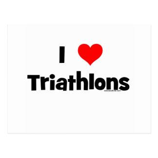 I Love Triathlons Post Card