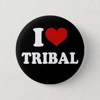 I Love Tribal Pinback Button