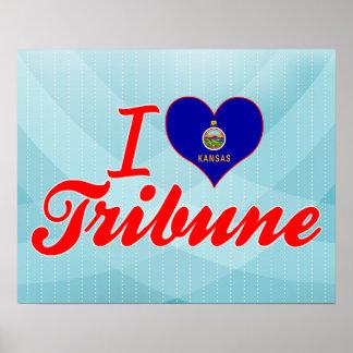 I Love Tribune, Kansas Poster