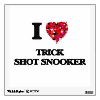 I Love Trick Shot Snooker Wall Decals