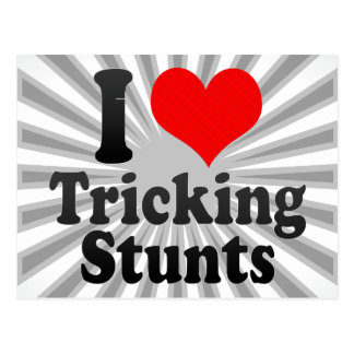 I love Tricking Stunts Postcard