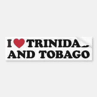I Love Trinidad and Tobago Car Bumper Sticker