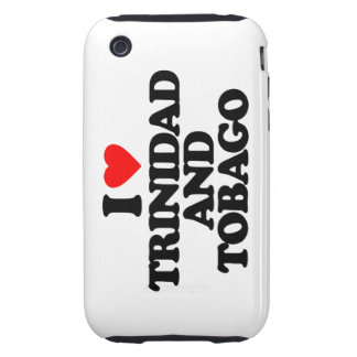 I LOVE TRINIDAD AND TOBAGO TOUGH iPhone 3 CASES