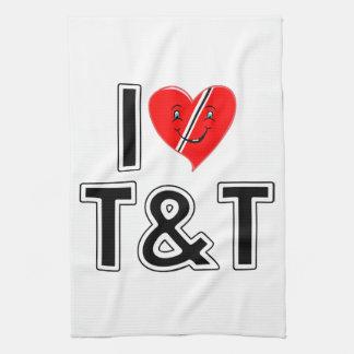 I Love Trinidad and Tobago Hand Towel