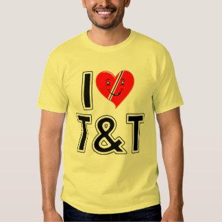 I Love Trinidad and Tobago Heart T Shirt