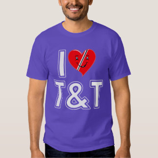I Love Trinidad and Tobago Heart Tee Shirt