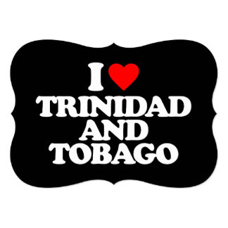 I LOVE TRINIDAD AND TOBAGO 5X7 PAPER INVITATION CARD