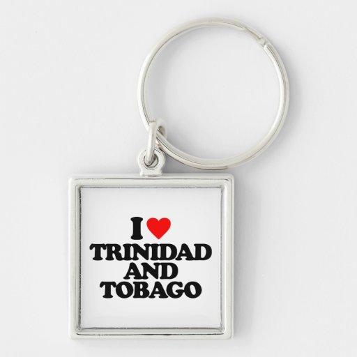 I LOVE TRINIDAD AND TOBAGO KEY CHAIN