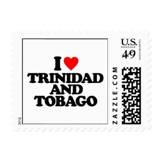 I LOVE TRINIDAD AND TOBAGO STAMPS