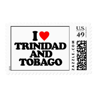 I LOVE TRINIDAD AND TOBAGO POSTAGE STAMPS