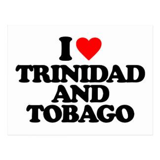I LOVE TRINIDAD AND TOBAGO POSTCARD