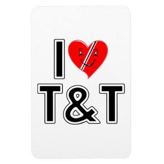I Love Trinidad and Tobago Rectangular Photo Magnet