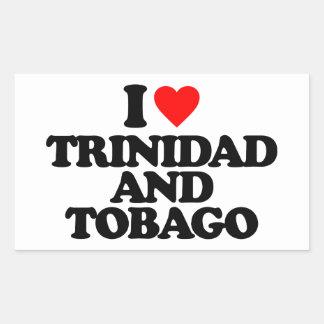 I LOVE TRINIDAD AND TOBAGO RECTANGULAR STICKER