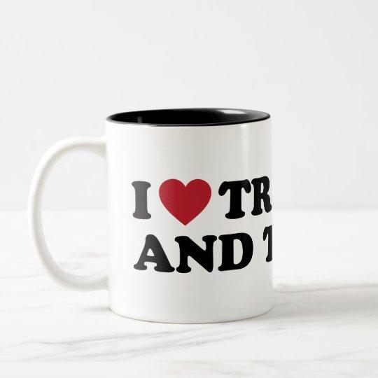 I Love Trinidad and Tobago Two-Tone Coffee Mug