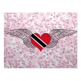 I Love Trinidad and Tobago -wings Postcard
