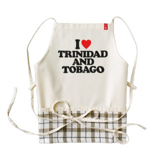 I LOVE TRINIDAD AND TOBAGO ZAZZLE HEART APRON