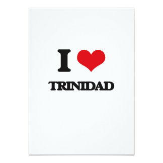 I Love Trinidad 5x7 Paper Invitation Card